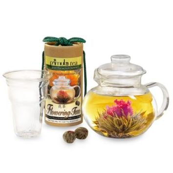 Primula Tea® 12-Count Flowering Teas with 5-Cup Glass Teapot