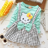 Girls  Hello Kitty Dress with Plaid
