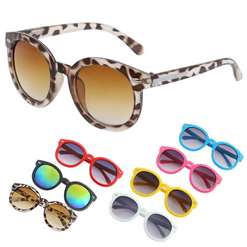 Fashion Children Boys Girls Candy Color Glasses Round Sunglasses Eyewear 7 Colors Cool 1pcs Baby Kids Leopard sunglasses