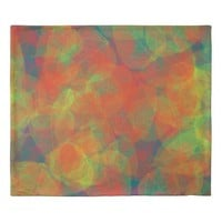 Colorful Abstract Leafy Design Duvet Covers Duvet Cover