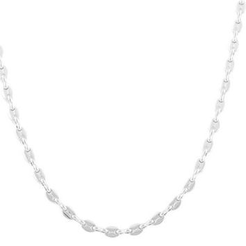 2 Pieces of Silvertone 5mm 20 Inch Pig Nose Chain Necklace