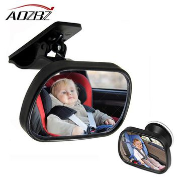 AOZBZ 1Pcs Mini Safety Car Back Seat Baby View Mirror Adjustable Safety Wide View Angle Convex Mirror Car Baby Kids Monitor