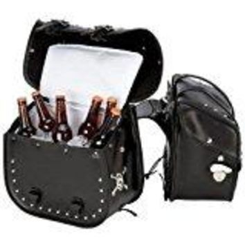 4 Pc  Studded Motorcycle Saddlebag Insulated Cooler Free Shipping Ground