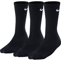 Nike 3PK Dri-FIT Crew Cotton Socks - Black