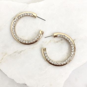 Slippery Slope Diamond Earring in Gold