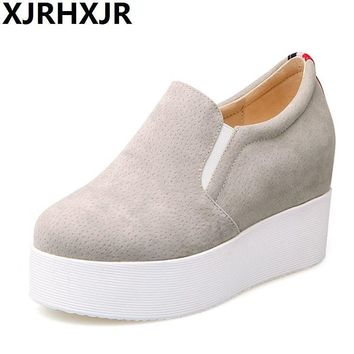 Hot Sale Autumn Style Women Shoes Hidden Wedge Heels Women's Elevator Shoes Casual Sho