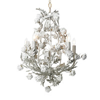 Rose Garden Chandelier in Snow White