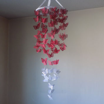 Butterfly paper mobile. Baby Nursery mobile, Crib mobile. All occasion lullaby mobile. Boy/Girl/Teen/Tween mobile. Choose Your Colors!