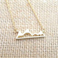 Mountain Necklace - Rose Gold, Gold and Silver