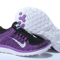 """NIKE"" Net surface breathable sneaker soft-soled running casual shoes Purple"
