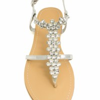 Just Be-Jewel Yourself Sandals - GoJane.com