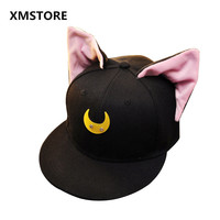 Japan Anime Pretty Soldier Sailor Moon Baseball Cap Women Adjustable Bishoujo Senshi Snapback Hat Cosplay Sailor Moon Hats W83
