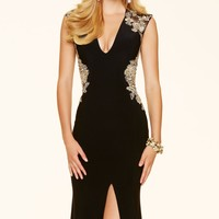 Embroidered Jersey Gown by Paparazzi by Mori Lee