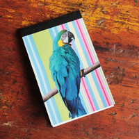 Blank Mini Memo Notebook - parrot miniature notebook - small memo book - colorful blank book