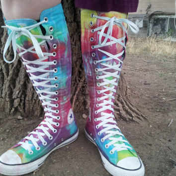 Tie Dye Ultra High Top Converse By LittleColorMonster