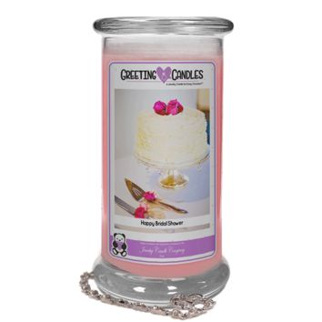 Happy Bridal Shower Jewelry Greeting Candle