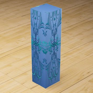 Ornate Blues Wine Box
