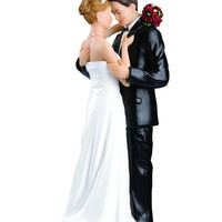 Weddings Cake Topper Tender Moment Caucasian Couple Figurine