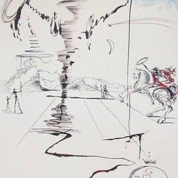 Chevalier, Ltd Ed Offset Lithograph, Salvador Dali