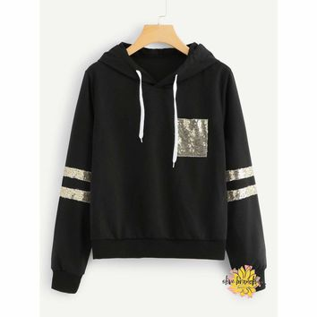 Shine Bright Sequined Hoodie