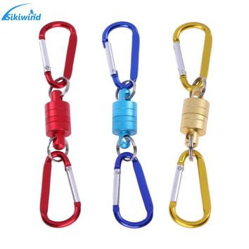 Fishing Magnet Buckle Carp Sling Fishing Climbing Outdoors Rotary Snap Fly Fishing Magnetic Net Quick Release Lanyard Clip Land