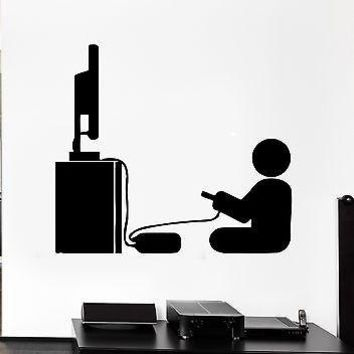 Wall Decal Gamer Video Game Room Decor For Living Room Unique Gift (z2764)