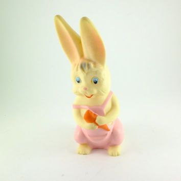 Vintage Rabbit Rubber Toy Bunny Rubber Toy Baby Bath Toy, Rubber Toy USA Toy US ARADEANCA Fairy Tale Character