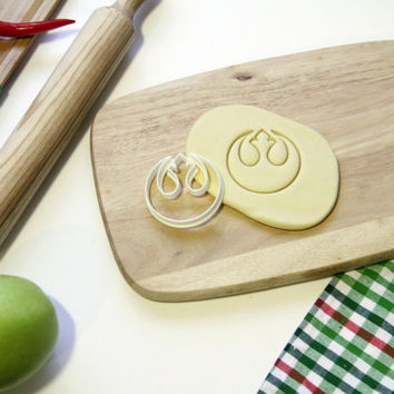 Star Wars Cookie Cutter StarWars Rebel Alliance Symbol Cookie Cutter Cupcake topper Fondant Gingerbread Cutters - Made from Eco Material