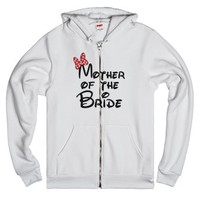 Mother of the Bride Bow-Unisex White Hoodie