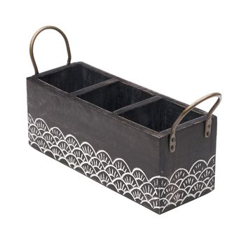 Wood Vasant Flatware Caddy - Matr Boomie (T)
