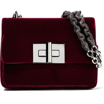 TOM FORD - Natalia velvet shoulder bag