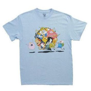 Adventure Time Finn & Jake Group Roll Adult Licensed T-Shirt 2XL