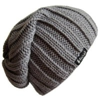 Amazon.com: Frost Hats Fall Winter GRAY Mens Slouchy Hat Beanie Frost Hats: Clothing