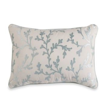 Royal Heritage Home® Oblong Embroidered Coral Toss Pillow in Sea Cottage