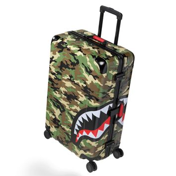 "Sprayground - CAMO SHARK 29"" Check Luggage - Green"