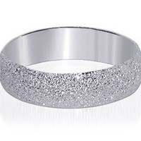 925 Sterling Silver Stardust Finish 5mm Band