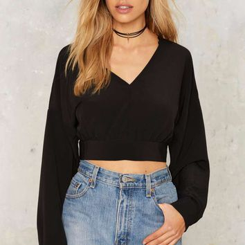 Glamorous Opening Up Crop Top