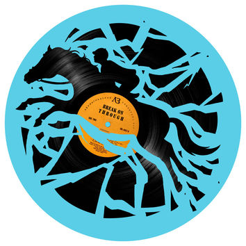 Enkel Dika's Disc Jockey Circle Decal