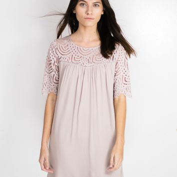 Persephone Lace Accent Dress
