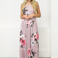Sassy Floral Pocket Maxi Dress