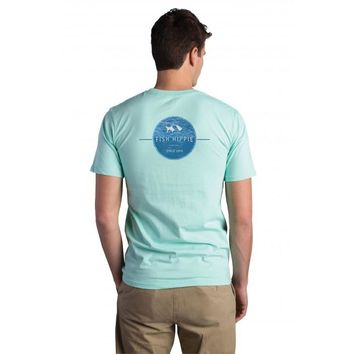 Fish Hippie, Waters Edge Tee, Seagrass