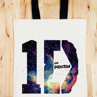 BAG 1D One Direction Galaxy Bag 1D Bag One Direction Bag Rock Bag Music Bag Women Bag Men Bag Canvas Tote Bag Diaper Bag Gift Bag Big Size