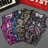 Couple Casual Camouflage Sports Sleeveless T-shirts [11877150227]