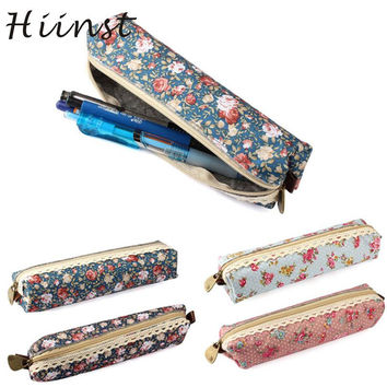 Modern HIINST Cosmetic Bag Makeup Portable Flower Print Lace Travel Pocket Bag Organizer Pouch Handbag H13