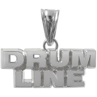 Sterling Silver Drum Line Charm   Color Guard Gifts
