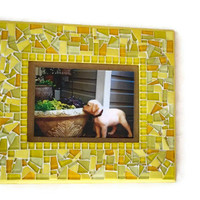 Mosaic Wall Frame, Yellow