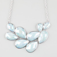 Full Tilt Facet Stone Statement Necklace Light Blue One Size For Women 25153722101
