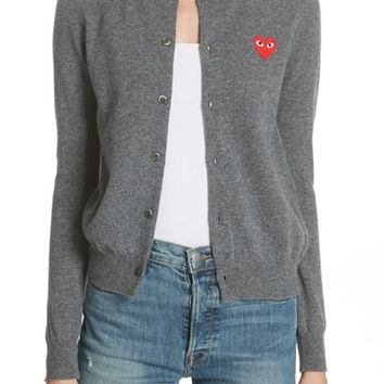 Comme des Garçons PLAY Wool Cardigan | Nordstrom