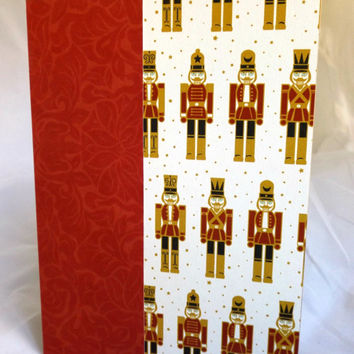 Christmas Card Nutcracker Card Hand Made Card Handmade Christmas Card Kraft Paper Card Blank Christmas Card