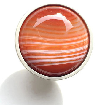 Saturn Sunset/ Stone Knob/ Drawer Pull